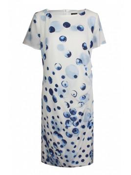 Kleid ultramarine-eisblau